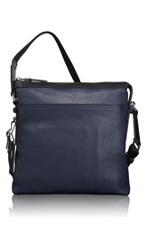 Men's Tumi 'Mission Bartlett' Leather Crossbody Bag Blue Navy