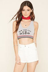 Forever 21 Nyc Striped Crop Top