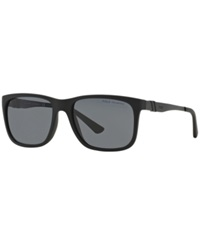 Polo Ralph Lauren Sunglasses Polo Ralph Lauren Ph4088 55P Black Matte Grey Polar