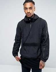 Religion Over Head Jacket With Webbing Detail Black