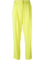 Versus Front Pleat Trousers Yellow And Orange
