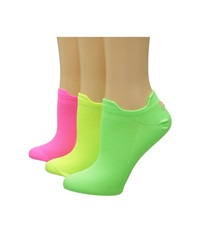 Lauren Ralph Lauren Double Tab Microfiber 3 Pack Neon Pink Women's Crew Cut Socks Shoes
