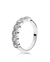 Pandora Design Ring Sterling Silver And Cubic Zirconia Alluring Cushion