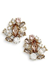 Marchesa Women's Cluster Button Earrings Silk Rose Gold