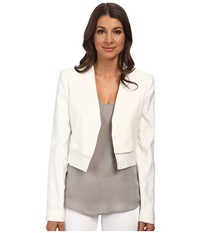 Bcbgmaxazria Corey Open Front Jacket Off White Women's Coat Beige