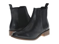 Dune Quentin Black Leather Women's Pull On Boots