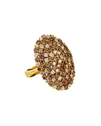 Roberto Coin 18K White And Brown Diamond Cocktail Ring Red