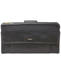 Fossil Ellis Leather Clutch Wallet Black