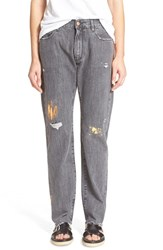 Women's Aries 'Simon' Foiled Destructed Jeans Nordstrom Exclusive