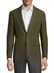 Polo Ralph Lauren Long Sleeve Wool Blazer Dark Olive