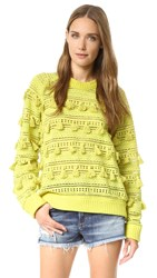Sea Tassel Sweater Green