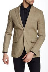 John Varvatos Peak Soft Linen Jacket Brown