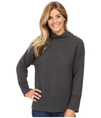 Vince Camuto Long Sleeve Turtleneck Ribbed Sweater Medium Heather Grey Women's Sweater Gray