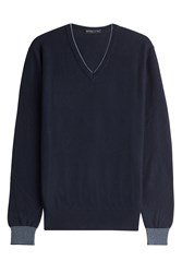 Etro Cotton Cashmere Pullover Blue