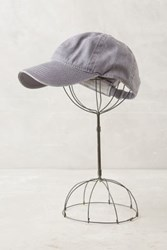 Anthropologie Washed Canvas Baseball Cap Grey