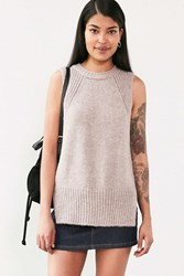 Silence And Noise Outsider Tunic Sweater Top Taupe