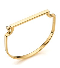 Monica Vinader Signature Thin Bangle Female Gold