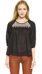 Madewell Boho Blouse Almost Black