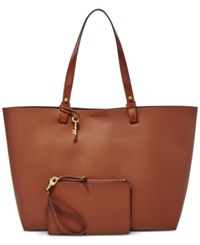 Fossil Rachel Tote With Pouch Brown