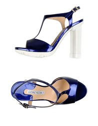 Luciano Padovan Footwear Sandals Women Bright Blue