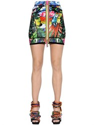 Dsquared Exotic Printed Scuba Mini Skirt