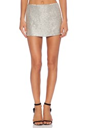 Mlv Bobbi Sequin Skirt Metallic Silver
