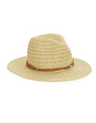Collection 18 Banded Panama Hat Beige