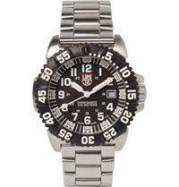 Luminox Navy Seal Colormark 3152 Series Stainless Steel Watch Silver