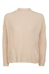 Topshop Travelling Ribbed Boxy Jumper Peach