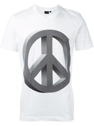 Ps Paul Smith Peace Sign T Shirt White