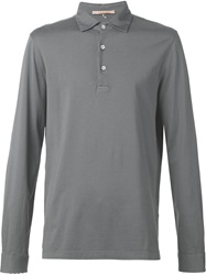 Capobianco Long Sleeved Polo Shirt Grey