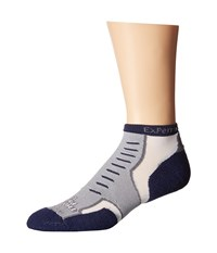 Thorlos Experia Nantucket Micro Mini 3 Pair Pack Quaker Grey Crew Cut Socks Shoes Gray
