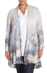 Plus Size Women's Nic Zoe 'Floral Burst' Long Cardigan