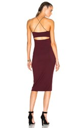 Alexander Wang T By Strappy Tank Dress In Red