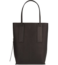 Rick Owens Leather Bucket Tote Black