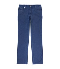 Brioni Straight Leg Jeans Male Dark Blue