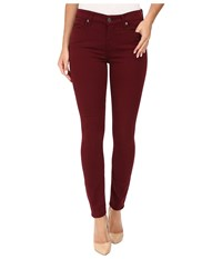 7 For All Mankind The Ankle Skinny In Cranberry Cranberry Women's Jeans Red