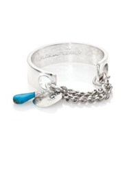 Taylor And Tessier Handcuffs Turquoise Charm Bracelet Silver Turquoise