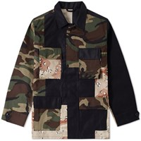 Sophnet. Fabric Mix Military Shirt Black