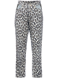 Jean Paul Gaultier Vintage Cropped Leopard Print Jean Nude And Neutrals