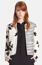 Marc By Marc Jacobs Patchwork Cardigan White Multi