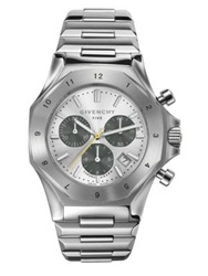 Givenchy Five Stainless Steel Chronograph Watch Silver
