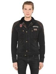 Matchless London Rebel Waxed Cotton And Leather Jacket