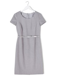 Precis Petite Eliza Tailored Shift Dress Grey