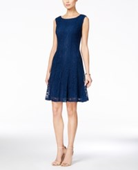 Connected Sleeveless Lace A Line Dress Dark Teal