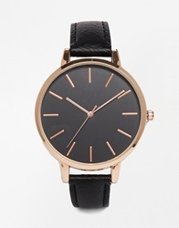 New Look Black Dial Large Face Watch