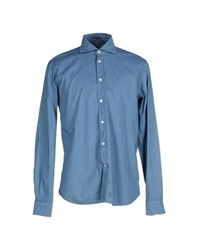 Mason's Shirts Shirts Men Slate Blue