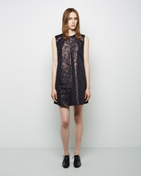 3.1 Phillip Lim Sculpted Jacquard Minidress Mahogany Multi