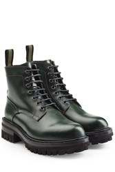 Dsquared2 Leather Ankle Boots Green