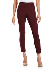 Anne Klein Front Stitched Skinny Dress Pants Red